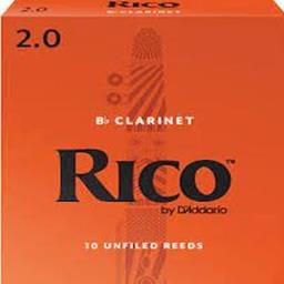 Rico 10RICL2 Clarinet Reeds #2.0: 10-Pack